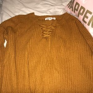 Burnt color sweater